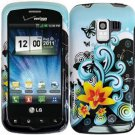 Hard Plastic Design Case for LG Enlighten VS700/Optimus Slider LS700 - Lily and Butterfly