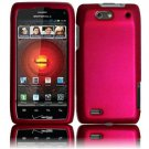 Hard Plastic Rubber Feel Case for Motorola Droid 4 XT894 (Verizon) - Rose Pink