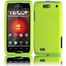 Hard Plastic Rubber Feel Case for Motorola Droid 4 XT894 (Verizon) - Neon Green