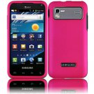 Hard Plastic Rubber Feel Case for Samsung Captivate Glide 4G (AT&T) - Hot Pink