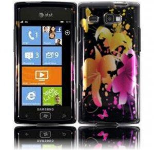 Hard Plastic Design Case for Samsung Focus Flash i677 (AT&T) - Heavenly Flowers