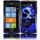 Hard Plastic Design Case for Samsung Focus Flash i677 (AT&T) - Blue Skull