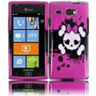 Hard Plastic Design Case for Samsung Focus Flash i677 (AT&T) - Girly's Skull