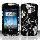 Hard Plastic Rubber Feel Design Case for LG Enlighten VS700/Optimus Slider LS700 - Midnight Garden
