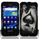 Hard Plastic Rubber Feel Design Case for Samsung Captivate Glide 4G - Ace of Spade Skull