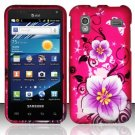 Hard Plastic Rubber Feel Design Case for Samsung Captivate Glide 4G - Hibiscus Flowers