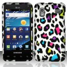 Hard Plastic Rubber Feel Design Case for Samsung Captivate Glide 4G - Rainbow Leopard