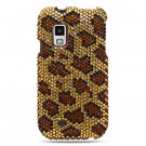 Hard Plastic Bling Rhinestone Design Case for Samsung Fascinate i500 - Golden Leopard