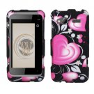 Hard Plastic Rubber Feel Design Case for HTC Radar 4G - Exotic Heart