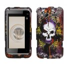 Hard Plastic Rubber Feel Design Case for HTC Radar 4G - Lion and Skull