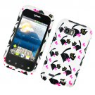 Hard Plastic Glossy Design Case for LG myTouch Q C800/Maxx Q - Bow Tie Cat