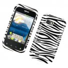Hard Plastic Glossy Design Case for LG myTouch Q C800/Maxx Q - Black and White Zebra