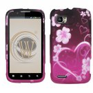 Hard Plastic Rubber Feel Design Case for Motorola Atrix 2 MB865 - Lovely Heart