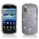 Hard Plastic Bling Rhinestone Design Case for Samsung Stratosphere i405 - Silver