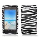 Hard Plastic Design Case for Motorola Droid 4 XT894 (Verizon) - Black and White Zebra