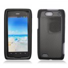 Hard Plastic Design Case for Motorola Droid 4 XT894 (Verizon) - Carbon Fiber
