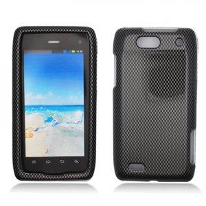 Hard Plastic Design Case for Motorola Droid 4 XT894 (Verizon) - Carbon Fiber