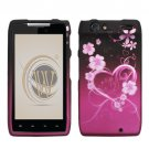 Hard Plastic Rubber Feel Design Case for Motorola Droid RAZR XT912 - Lovely Heart