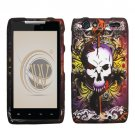 Hard Plastic Rubber Feel Design Case for Motorola Droid RAZR XT912 - Lion and Skull