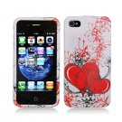 Hard Plastic Design Case for Apple iPhone 4/4S - Two Hearts
