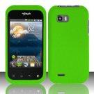 Hard Plastic Rubber Feel Case for LG myTouch Q C800/Maxx Q - Neon Green