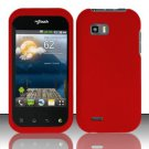 Hard Plastic Rubber Feel Case for LG myTouch Q C800/Maxx Q - Red