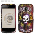 Hard Plastic Rubberized Design Case for Samsung Galaxy Nexus CDMA (Verizon/Sprint) - Skull & Lion