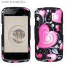 Hard Plastic Rubberized Design Case for Samsung Galaxy Nexus CDMA (Verizon/Sprint) - Exotic Hearts