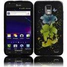 Hard Plastic Rubber Feel Design Case for Samsung Galaxy S II Skyrocket i727 - Magical Flowers