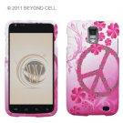 Hard Plastic Rubber Feel Design Case for Samsung Galaxy S II Skyrocket i727 - Love Peace Sign