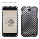 Hard Plastic Rubber Feel Design Case for Samsung Galaxy S II Skyrocket i727 - Diagonal Carbon Fiber