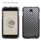 Hard Plastic Rubber Feel Design Case for Samsung Galaxy S II Skyrocket i727 - Diagonal Carbon Fiber