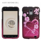 Hard Plastic Rubber Feel Design Case for Samsung Galaxy S II Skyrocket i727 - Lovely Hearts