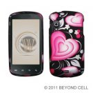 Hard Plastic Rubber Feel Design Case for Samsung Stratosphere i405 - Exotic Hearts