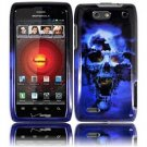 Hard Plastic Design Case for Motorola Droid 4 XT894 (Verizon) - Blue Skull