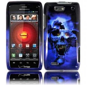 Hard Plastic Design Case for Motorola Droid 4 XT894 (Verizon) - Blue Skull