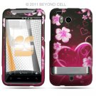 Hard Plastic Rubber Feel Design Case for HTC Thunderbolt 4G (Verizon) - Lovely Heart