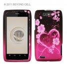 Hard Plastic Rubber Feel Design Case for Motorola Droid 4 XT894 (Verizon) - Lovely Heart