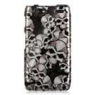 Hard Plastic Design Case for Motorola Droid RAZR Maxx XT916 - Black Skulls