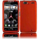 Hard Plastic Rubber Feel Case for Motorola Droid RAZR Maxx XT916 - Orange