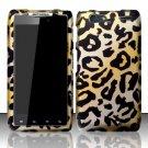 Hard Plastic Rubber Feel Design Case for Motorola Droid RAZR Maxx XT916 - Golden Cheetah