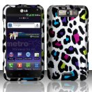 Hard Plastic Rubberized Design Case for LG Connect 4G (MetroPCS)/Viper 4G (Sprint) - Rainbow Leopard