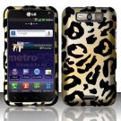 Hard Plastic Rubberized Design Case for LG Connect 4G (MetroPCS)/Viper 4G (Sprint) - Golden Cheetah