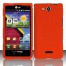 Hard Plastic 2-Piece Snap On Rubberized Case for LG Lucid 4G VS840 - Orange