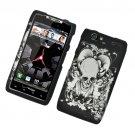 Hard Plastic Rubber Feel Design Case for Motorola Droid RAZR Maxx XT913/XT916 - Black Skull & Angel