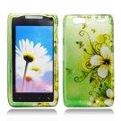 Hard Plastic Design Case for Motorola Droid RAZR Maxx XT913/XT916 - Green Flowers & Butterfly