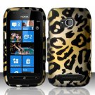 Hard Plastic 2 Piece Snap On Rubberized Case for Nokia Lumia 710 - Golden Cheetah
