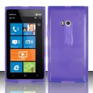 Soft TPU Gel Skin Cover Case for Nokia Lumia 900 (AT&T) - Purple