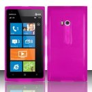 Soft TPU Gel Skin Cover Case for Nokia Lumia 900 (AT&T) - Hot Pink