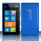 Soft TPU Gel Skin Cover Case for Nokia Lumia 900 (AT&T) - Blue